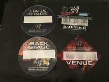 WWF WRESTLING FABRIC 4 BACK STAGE PASS LOT PITTSBURGH SMACK DOWN