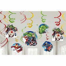 Avengers Epic Birthday Party Hanging Swirls Decoration Kit