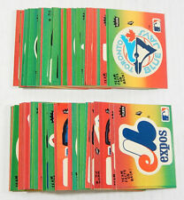 1984 Fleer Baseball Team Logo Stickers Set of (67) with Variations