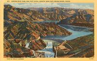 Linen ID Postcard C596 Arrow Rock Dam 369 Feet High Boise River Idaho Andrews