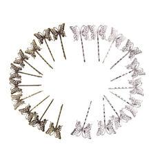 20x Épingles à Cheveux Papillon Dessin Pinces Chignon Épingle Argenté +