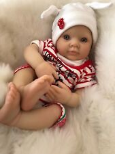 "CHERISH DOLLS REBORN DOLL CHEAP BABY GIRL NADIA REALISTIC 18"" LIFELIKE UK"