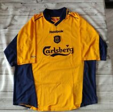 "Original Vintage Liverpool Shirt 2000 Away Size Large 42-44"" Reebok Retro"