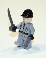 LEGO Indiana Jones Crystal Skull Russian Military Soldier Gray Confederate Sword