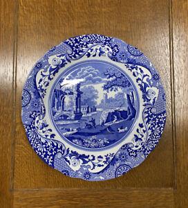 """Spode """"Italian"""" Design Dinner Plate in Blue and White"""