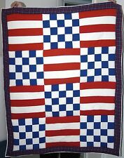 Usa Upcycled T-shirt Blanket, United States of America, Patchwork, Lap Quilt