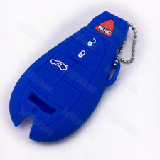 Silicone Key Fob Cover case Holder For Jeep Dodge Chrysler Smart Key 3 Button