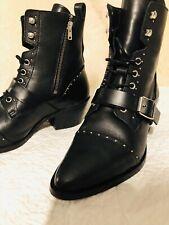 AllSaints Katy Studded Leather Ankle Boots, Size UK5 / EU 38, Used