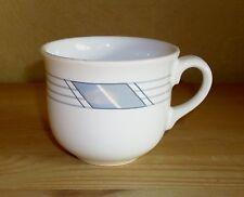 Winterling 1 Kaffeetasse, weiß, mit grauen Streifen Dekor,