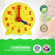Montessori Student Learning Clock Time Teacher Gear Clock 4 Inch 12/24 Hour New