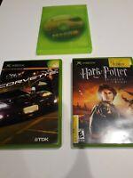 XBOX & 360 3 game lot - Corvette, Mass Effect 2, Harry Potter Goblet of Fire