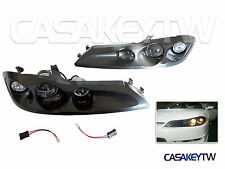 NEW NISSAN S15 SILVIA 200SX Projector Head Lights Lamps Black 99~02 ABS Material