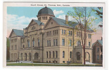 Court House St Thomas Ontario Canada 1920s postcard