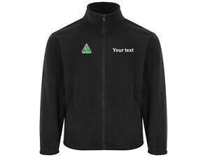 Oftec Embroidered micro fleece coat jacket with company name -electrician