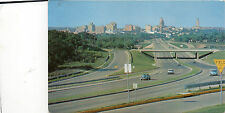 postcard USA  Modern Expressway leading into  Austin  Texas   unposted