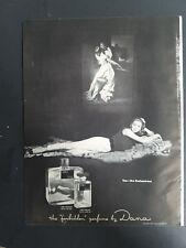 1951 Dana Tabu forbidden perfume bottle enchantress Suzy Parker vintage ad