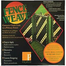 Easy to Apply Fence Weave to Fill Chin Link by Pexco - Green 40 Square Feet