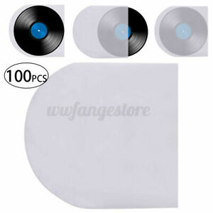 ♬100pcs/set Protective Bag Vinyl Record Cover Inner Anti Static PE Clear Sleeves