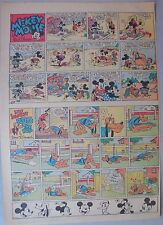 Mickey Mouse Sunday Page by Walt Disney from 10/22/1939 Tabloid Page Size