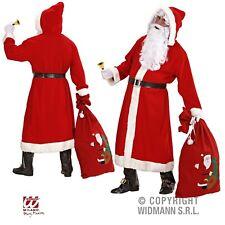 Weihnachtsmann Kostüm-Set Santa Claus Mantel Gürtel Bart Perücke Sack Brille -2