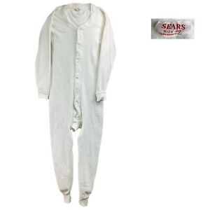 Vintage Union Suit S Sears Roebuck Co Union Suit 40 Thermal Underwear Long Johns
