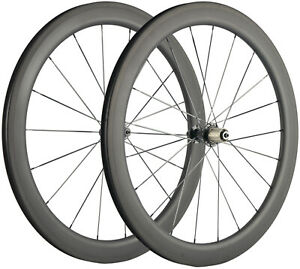 55mm Road Bike Wheels 25mm U Shape Clincher Carbon Wheelset 700C 3K Matte Basalt