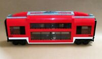 LEGO Train Carriage CUSTOM Club Car Double Deck Passenger Sleeper For Set 7938
