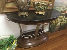 Deco Style Console With Black Granite Top And Chrome Accents