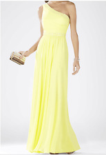 BCBG Max Azria 'Daniele' Embellished One-Shoulder Georgette Gown SZ:4 $498 NWT