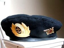 Russian Army Military Uniform Black Beret Marines Naval Hat Badge Insignia 58 Cm