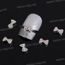 10pcs 3D Alloy Bow Tie Rhinestones Nail Art Glitters Stickers DIY Decoration #9
