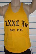 Explosive Fibres Gold XXXL INC Bodybuilding/Gym Stringer Vest: X-Large