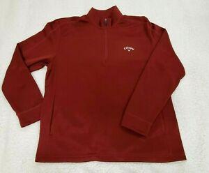 Callaway 1/4 Quarter Zip Maroon Pullover Softshell Golf Jacket - Men's Size XL