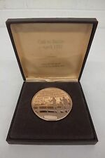 Call To Battle April 1775 ~4 Ounce Solid Bronze Proof Coin Franklin Mint Great