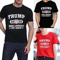 Donald Trump 2020 MAKE LIBERALS CRY AGAIN Political Elections T-Shirt Mens