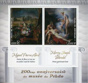 Congo 2019 MNH Prado Museum Miguel Parra Abril Blondel 2v M/S Art Stamps