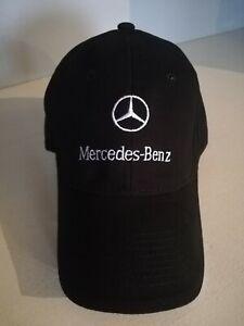 BRAND NEW MERCEDES-BENZ MENS EMBROIDERED ADJUSTABLE BLACK BASEBALL CAP