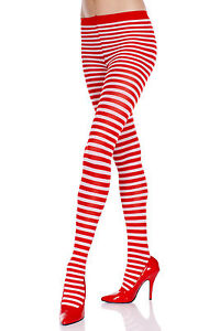 New Up to Waist Stripes Opaque Pantyhose Music Legs 7471
