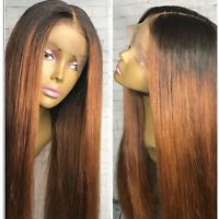 8A Ombre Brazilian Human Hair Full Lace Wigs Straight Lace Front Human Hair Wigs