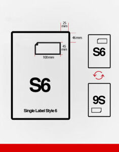 S6 Shipping Label Single Integrated Style F - Label 45mm deep x 100mm wide -1000
