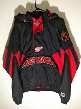 Vintage Starter Men's Medium NHL Red Wings Zipper Hooded Heavyweight Jacket