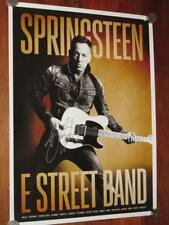 BRUCE SPRINGSTEEN SIGNED 2014 TOUR POSTER w/BACKSTAGE PASSES CREDENTIALS SHEET