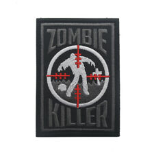 ZOMBIE KILLER Embroidered Military Tactical Hook Loop Patch Badge  A1197