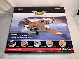 """Corgi WWII German Messerschmitt Bf109G-2 """"BLACK 6"""" AA34909 1:32 Diecast Plane"""