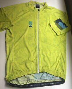 Ornot Men's Size XL Code Citron Full Zip House Cycling Jersey