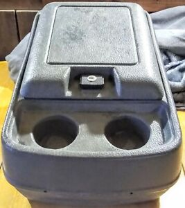 80-96 Ford F150 Truck F100 F250 F350 Bronco Gray Center Console Cup Holder