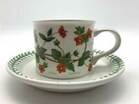 Scarlet Pimpernel The Botanic Garden by Portmeirion 2 pc Drum Flat Cup & Saucer