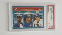 2003 Topps A Soriano, Alex Rodriguez, Derek Jeter  League Leaders #338 PSA 7
