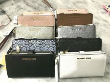 Michael Kors Jet Set Double Zip Phone Case Wallet Wristlets Multiple Styles $178