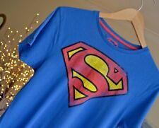 SUPERMAN Mens T-Shirt Tee Super Man Fade Red Yellow Logo Blue Cotton Sz Small